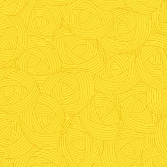 Tissu patchwork Pelote jaune canari - Lola Textures