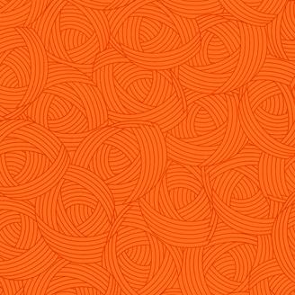 Tissu patchwork Pelote orange tangerine - Lola Textures