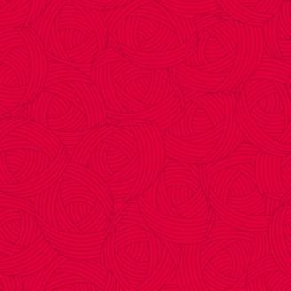 Tissu patchwork Pelote rouge cerise - Lola Textures