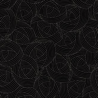 Tissu patchwork Pelote noir onyx - Lola Textures