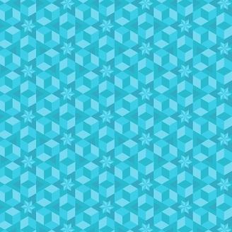 Tissu patchwork étoile de mer turquoise - Diving Board d'Alison Glass