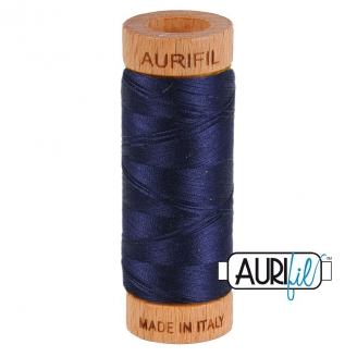 Fil de coton Mako 80 Aurifil - Bleu Marine 2785