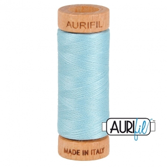 Fil de coton Mako 80 Aurifil - Turquoise clair 2805_