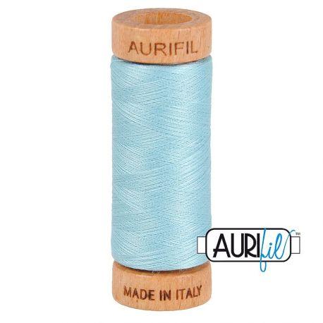 Fil de coton Mako 80 Aurifil - Bleu Ciel 2805