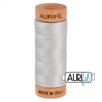 Fil de coton Mako 80 Aurifil - Gris argent 2615