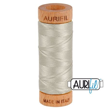 Fil de coton Mako 80 Aurifil - Gris Tourdille 5021