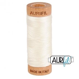 Fil de coton Mako 80 Aurifil - Blanc Ivoire 2026