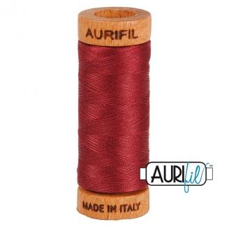 Fil de coton Mako 80 Aurifil - Bordeaux 2460
