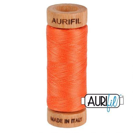 Fil de coton Mako 80 Aurifil - Orange Mandarine 1154