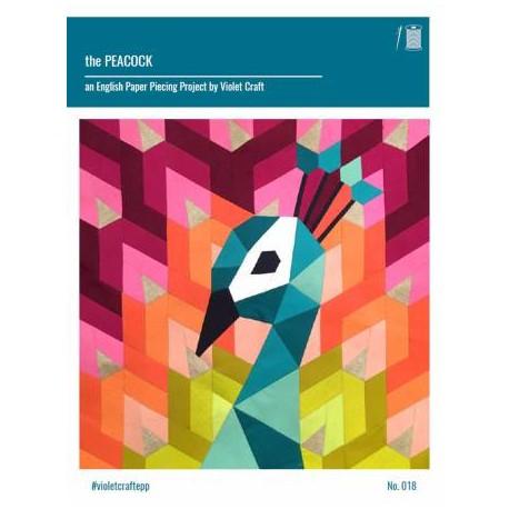 The Peacock (Le Paon) - kit de patchwork piécé main