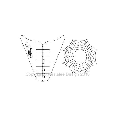 Toile d'araignée n°6 (Spin an Echo) - Règle à quilter Westalee