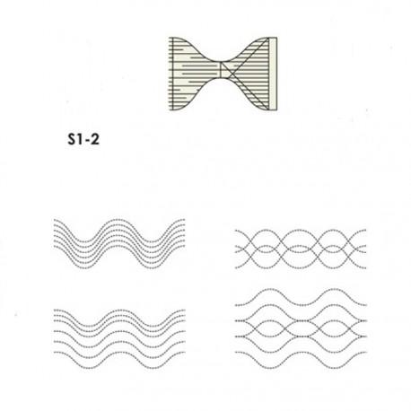 Onde accoustique (Sound waves serpentine) - Règle à quilter Westalee