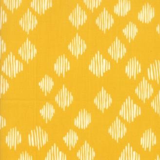 Tissu patchwork losanges rayés fond curry - Wild Nectar de Moda