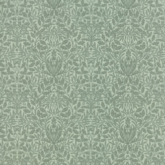 Tissu patchwork floral vert d'eau - reproduction de William Morris