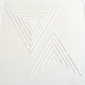 Triangles équilatéraux - Gabarits de Patchwork Amega