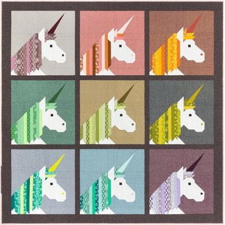 Lisa la Licorne - Modèle de patchwork d'Elizabeth Hartman