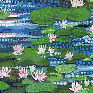 Tissu patchwork Nymphéas - Artisan Spirit Water Garden