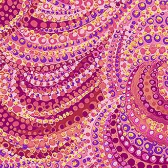 Tissu patchwork volutes rose framboise - Artisan Spirit Water Garden