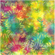 Tissu batik tournesols fond multicolores