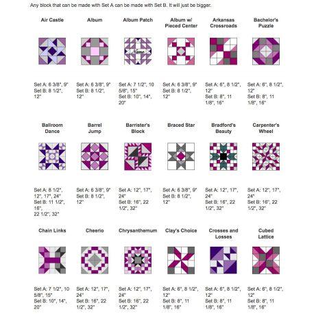 Set A - Gabarits pour patchwork de Marti Michell