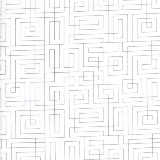 Tissu patchwork labyrinthe fond blanc cassé - Thrive de Moda