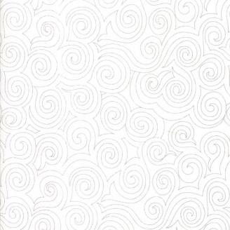 Tissu patchwork tourbillons fond blanc cassé - Thrive de Moda