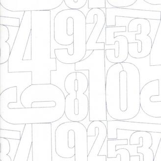 Tissu patchwork grands chiffres fond blanc cassé - Thrive de Moda
