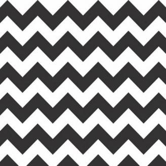 Tissu patchwork chevrons noirs et blancs