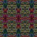 Tissu patchwork courants électriques fond noir - Wonderlust