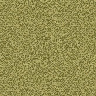 Tissu patchwork mini feuilles vert olive