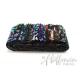 Bandes de tissus batiks Bali Poppy - Noir Mulitico