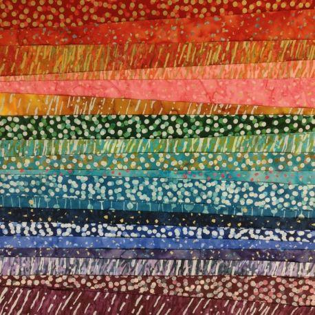 Bandes de tissus batiks Bali Poppy - Gemstone