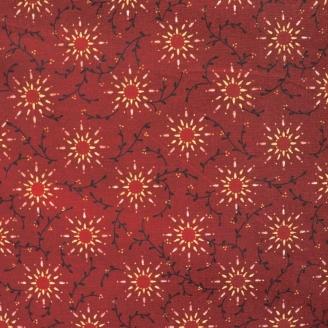 Tissu en grande largeur (270 cm) Prairie Vine rouge foncé - Kim Diehl