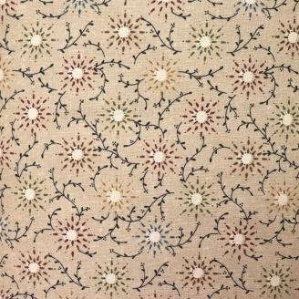 Tissu en grande largeur (270 cm) Prairie Vine beige - Kim Diehl
