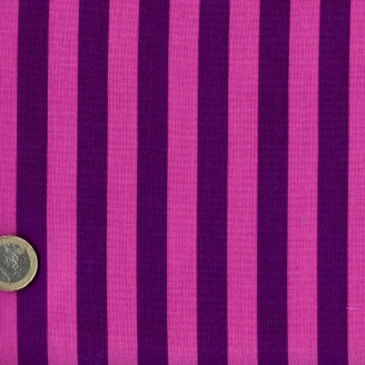 Tissu patchwork Tula Pink rayures rose et prune - All Stars