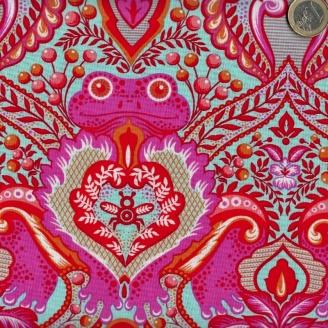 Tissu patchwork Tula Pink Prince des grenouille rose - All Stars