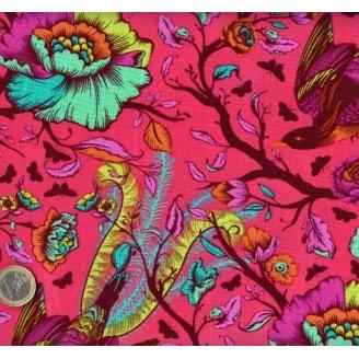 Tissu patchwork Tula Pink oiseaux fond coquelicot - All Stars