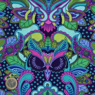 Tissu patchwork Tula Pink hiboux violet et rose - All Stars