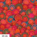 Tissu Philip Jacobs - Coquillages oranges Spiral shells PJ073