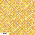 Tissu Brandon Mably Croisillons fond jaune Mad Plaid BM037