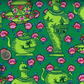 Tissu Kaffe Fassett Vases verts GP165