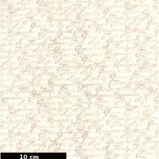Tissu patchwork écritures manuscrites fond écru - Homegrown