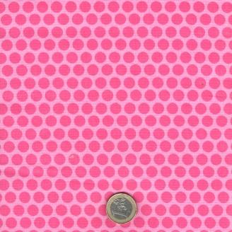 Tissu patchwork pois roses ton sur ton