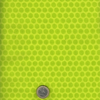 Tissu patchwork pois vert lime ton sur ton