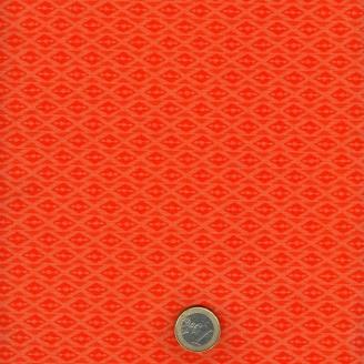 Tissu patchwork losanges oranges ton sur ton - Voyage de Kate Spain