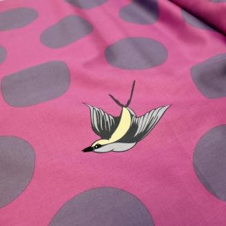 Tissu grande largeur Tula Pink Battleship Orchidée