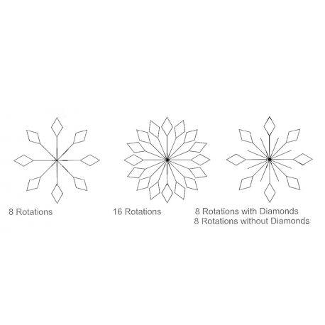 Flocon feuille (Snowflake 5 & 6) - Règles à quilter Westalee