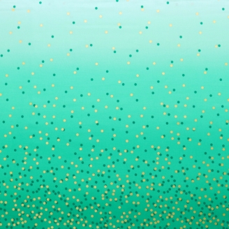 Tissu dégradé Confetti Emeraude - Ombre Confetti Metallic par V&Co