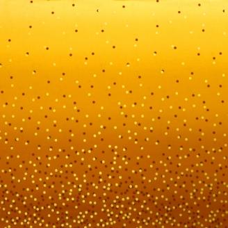 Tissu dégradé Confetti Ocre - Ombre Confetti Metallic par V&Co