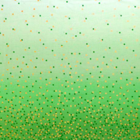Tissu dégradé Confetti Menthe à l'eau - Ombre Confetti Metallic par V&Co